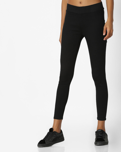 Ankle-Length Jeggings By Pepe Jeans ( Black )