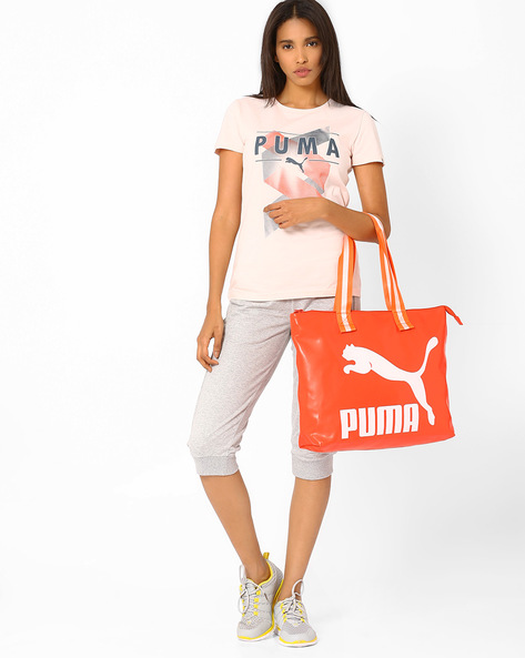Printed Tote Bag By Puma ( Red )