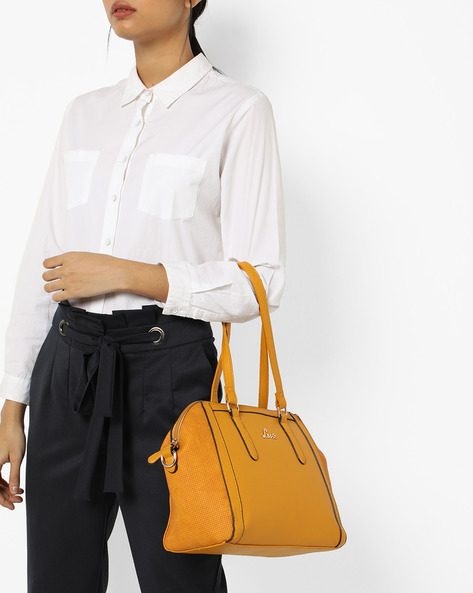 Solrad Textured Tote Bag By Lavie ( Yellow )