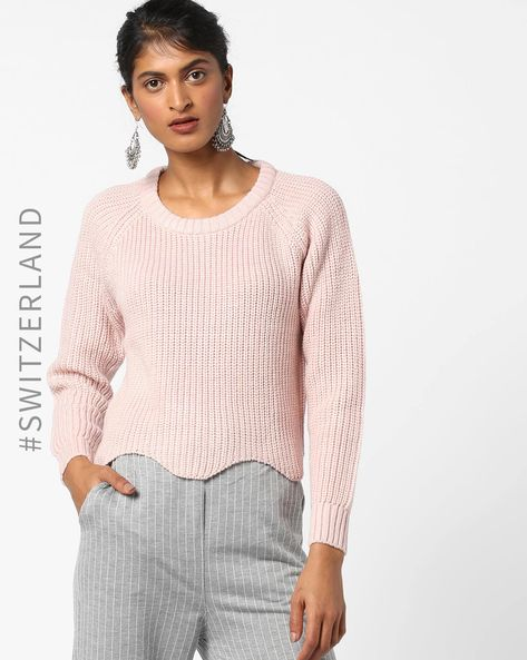 Crew-Neck Pullover With Raglan Sleeves By TALLY WEiJL ( Pink )