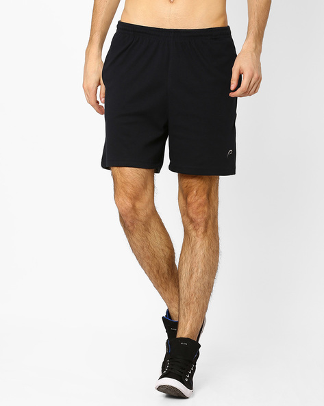 Knitted Shorts With Contrast Panels By PROLINE ( Navy )