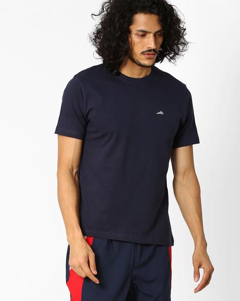 Regular Fit Crew-Neck T-shirt By 2Go ( Blue )