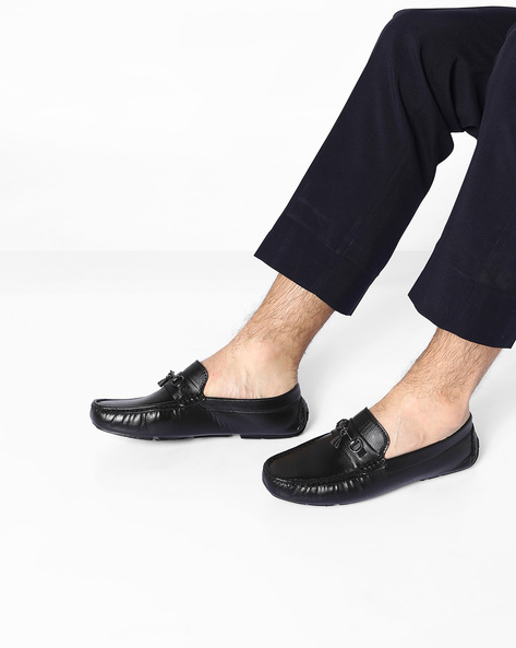 Venetian Loafers With Metal Accents By ESCARO ( Black )