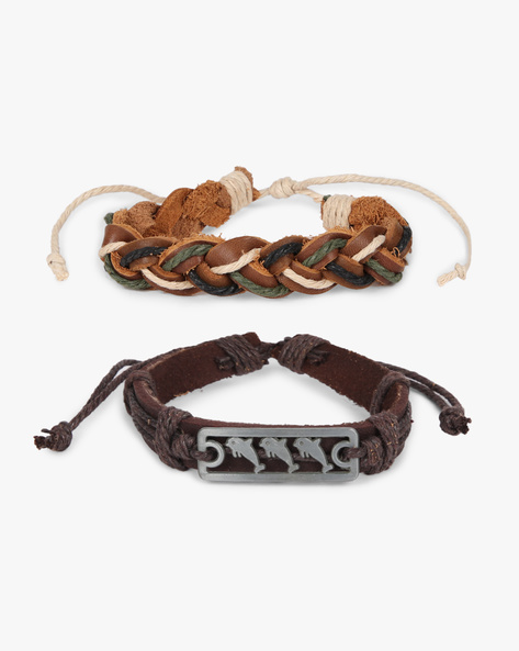 Pack Of 2 Bracelets By ALPHA MAN ( Brown ) - 460134362001