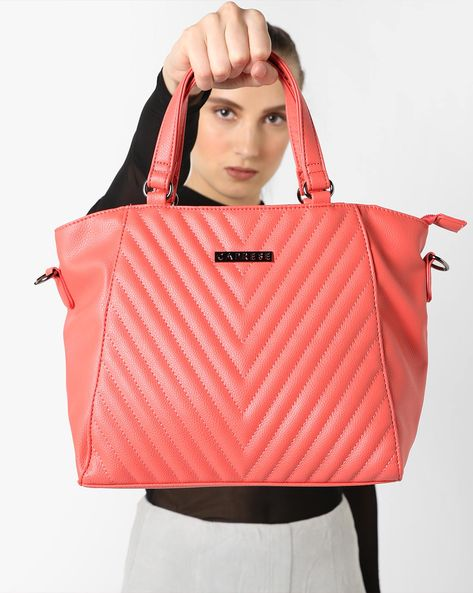 Angelina Quilted Handbag By CAPRESE ( Pink )
