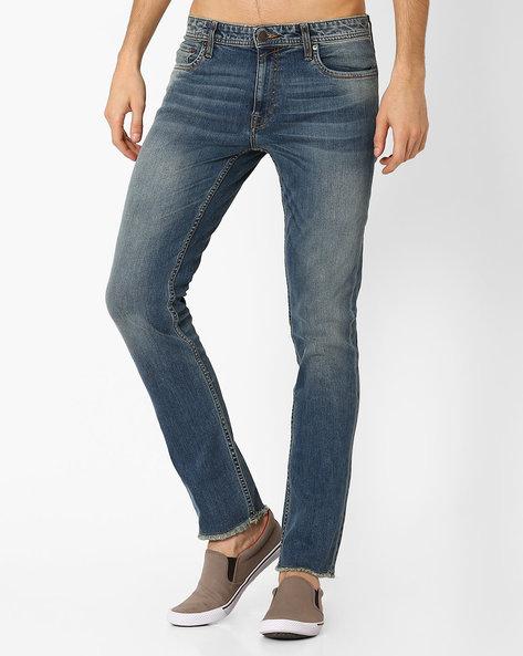 Low-Rise Slim Fit Jeans By Jack & Jones ( Blue )