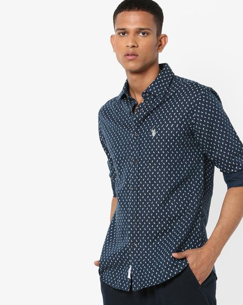 Paisley Print Tailored Fit Shirt By US POLO ( Assorted )