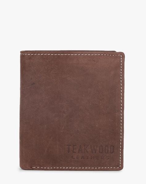 Bi-Fold Leather Wallet By TEAKWOOD LEATHERS ( Wine ) - 460173768001