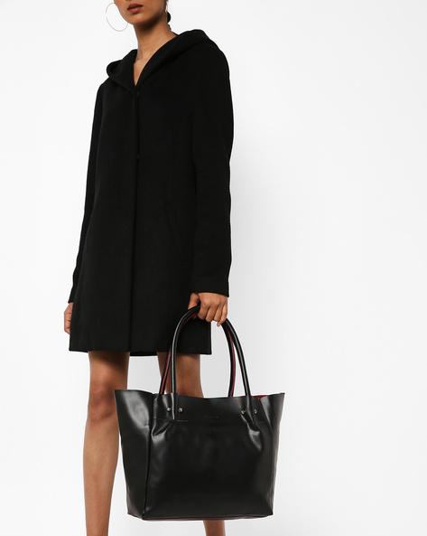 PU Tote Bag By Kanvas Katha ( Black )