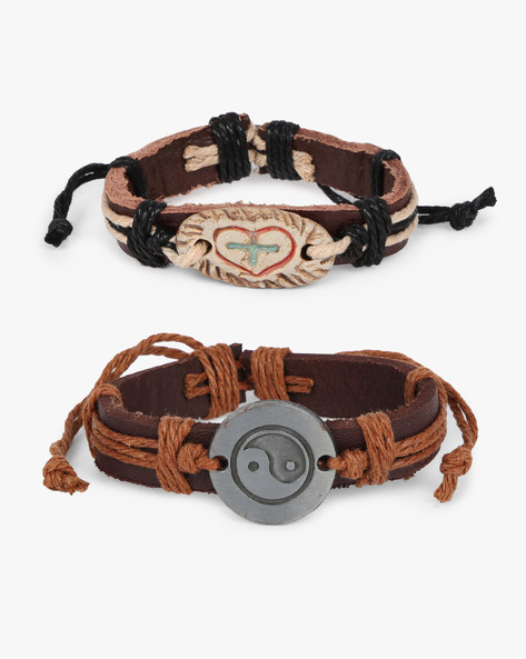 Set Of 2 Bracelets By ALPHA MAN ( Beige )