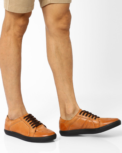 Sneakers With Brogue Detailing By Knotty Derby ( Tan )