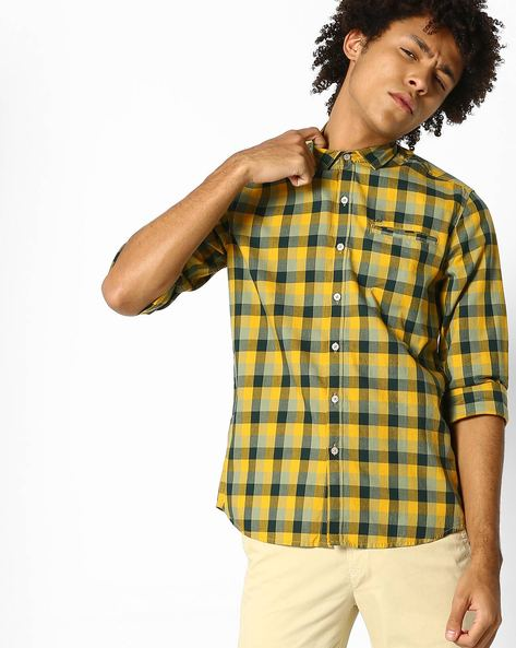 Yarn-Dyed Checked Shirt By Lee ( Green )