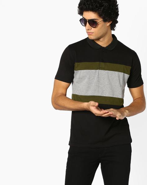 Cut & Sew Polo T-shirt By BLOTCH ( Multi )