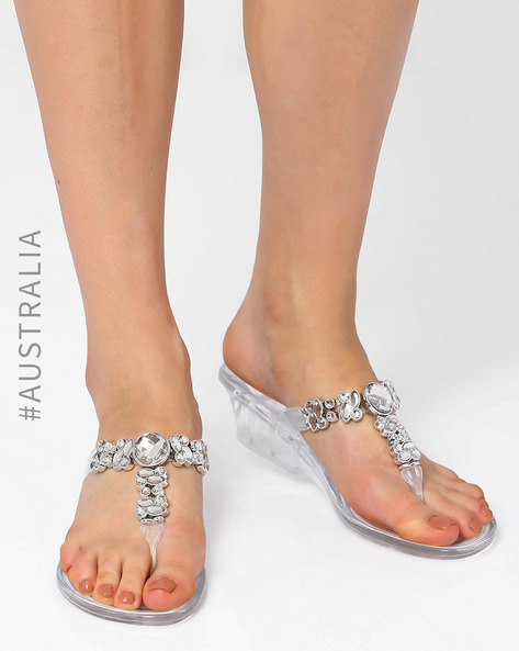 Embellished Pandora Wedges By Holster ( Clear )