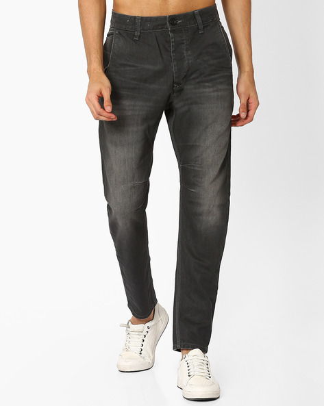 Lightly Washed Skinny Fit Jeans By VOI JEANS ( Grey )