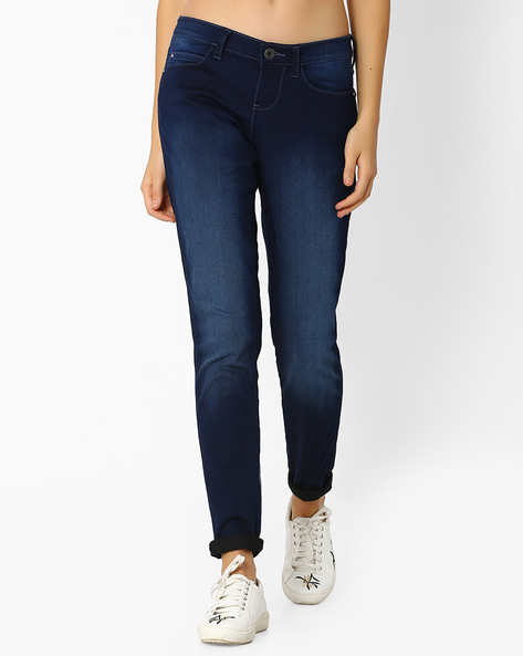Lightly Washed Skinny Jeans By WRANGLER ( Blue )
