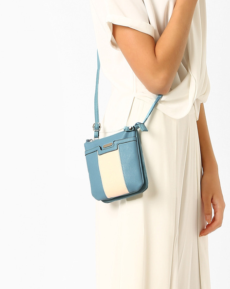Colourblock Sling Bag By Lavie ( Blue )