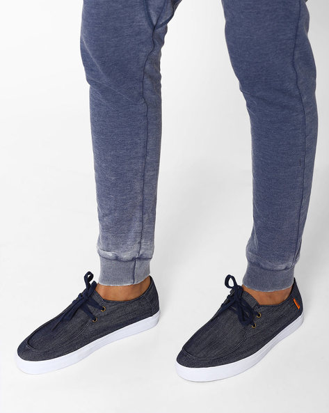 Denim Rata Vulc SF Lace-Ups With UltraCush Sock Liners By Vans ( Navy )