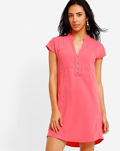 Printed Tailored Tunic By Oxolloxo ( Pink )