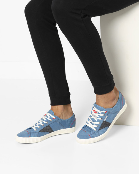 Low-Top Lace-Up Shoes By Lee Cooper ( Sblue )