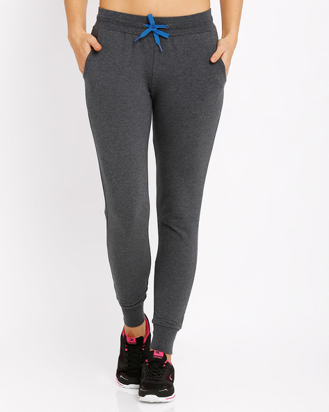 Cuffed Track Pants By AJIO ( Grey ) - 460002576003