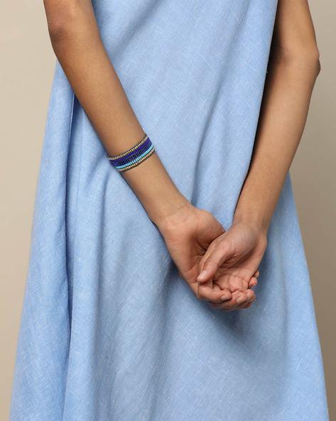 Adjustable Beaded Bracelet By Indie Picks ( Blue ) - 460189633001