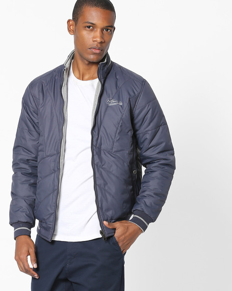 Reversible Quilted Jacket By Fort Collins ( Navy )