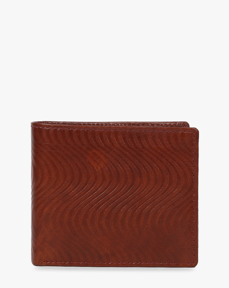 Bi-Fold Genuine Leather Wallet By Buckle Up ( Brown )
