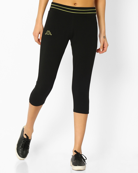 Capris With Elasticated Waist By KAPPA ( Black ) - 460065288001