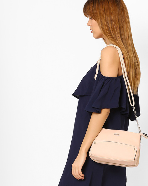 Panelled Sling Bag By Lavie ( Beige )