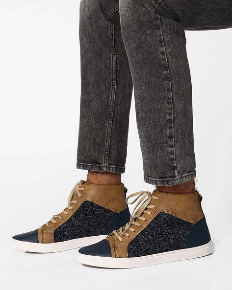 Grindel High-Top Casual Shoes By Muddman ( Navy )