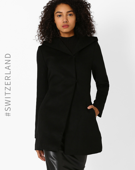 Hooded Trench Coat By TALLY WEiJL ( Black )