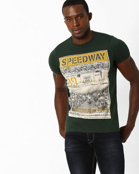 Borzi Graphic Print Crew-Neck T-shirt By Killer ( Assorted )