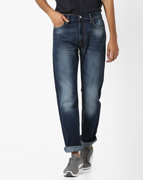 Lightly Washed Slim Fit Jeans By LEVIS ( Indigo )