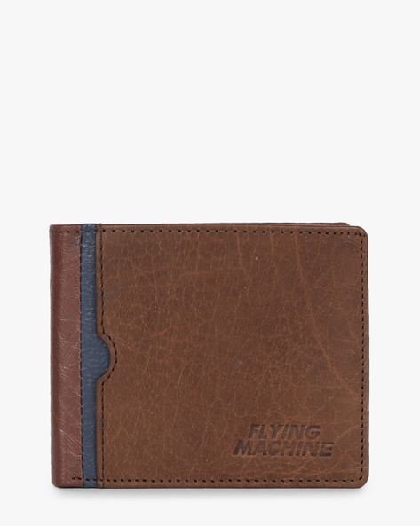 Genuine Leather Bi-Fold Wallet By FLYING MACHINE ( Blue ) - 460070704001