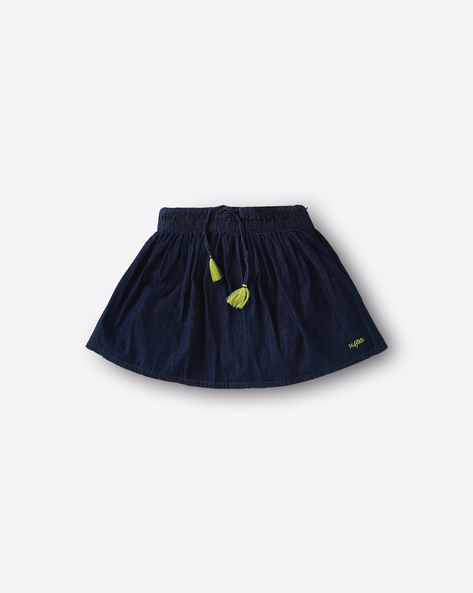 Denim Flared Skirt By USPA ( Blue )