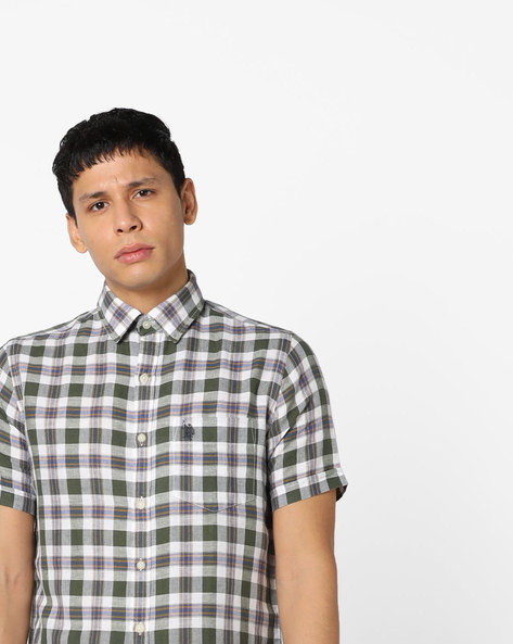 Checked Shirt With Patch Pocket By U.S. Polo Assn. ( Assorted )