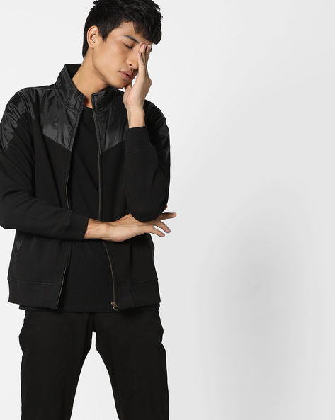 Cut & Sew Sweatshirt With Elbow Patches By FLYING MACHINE ( Assorted )