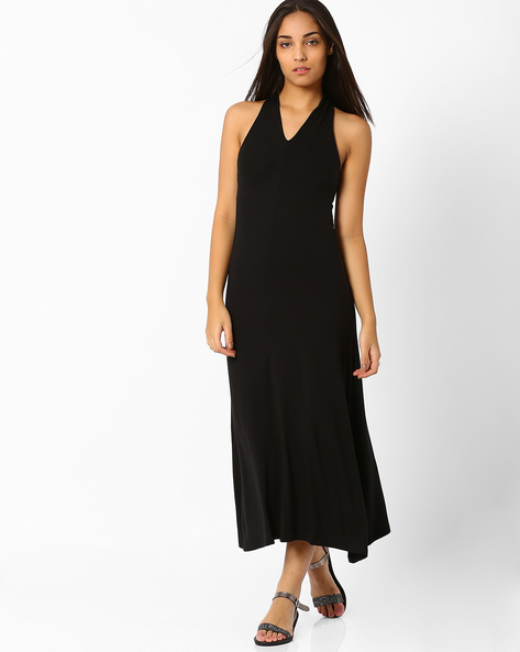 Cross Neck Maxi Dress By CHEMISTRY ( Black )