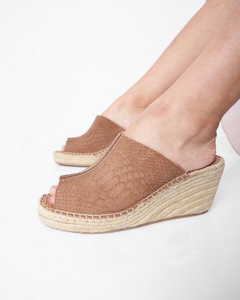 Wedges With Braided Outsole By HATS OFF ( Tan )