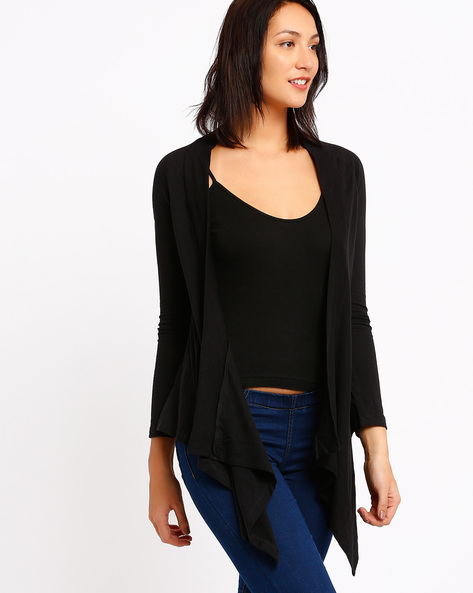 Waterfall Shrug By CHM ( Black )