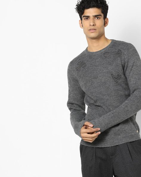 Crew-Neck Pullover With Ribbed Hems By GAS ( 133 )