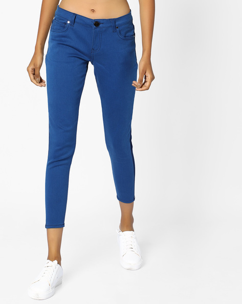 Colourblock Cropped Jeans By CODE By Lifestyle ( Blue )