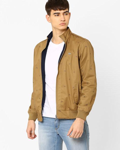 Regular Fit Reversible Jacket By NETPLAY ( Khaki )