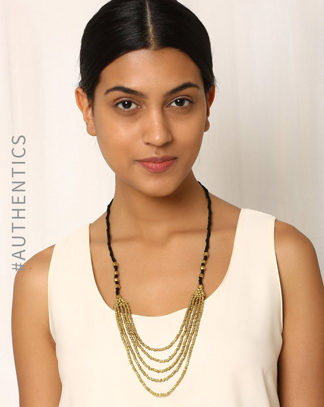 Handcrafted Dhokra Brass Necklace By Indie Picks ( Gold ) - 460016965001