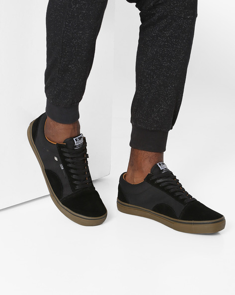 Casual Shoes With Contrast Panels By British Knights ( Black )