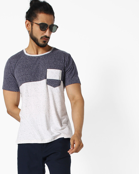 Colourblock Crew-Neck T-shirt By ANTIFERRO ( White )