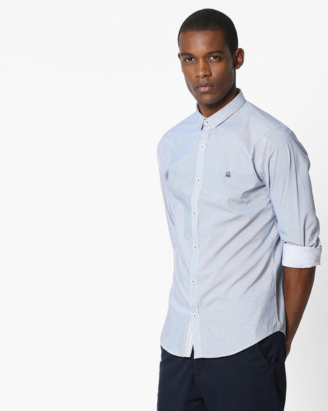 Printed Slim Fit Shirt By UNITED COLORS OF BENETTON ( Assorted ) - 460145874012