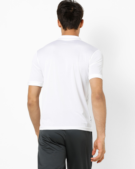 Graphic Print Polo T-shirt By ALCIS ( White )