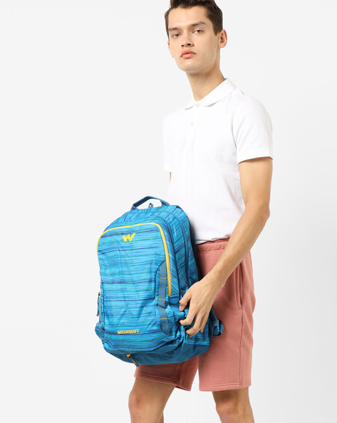 Striped Everyday Backpack By Wildcraft ( Blue )